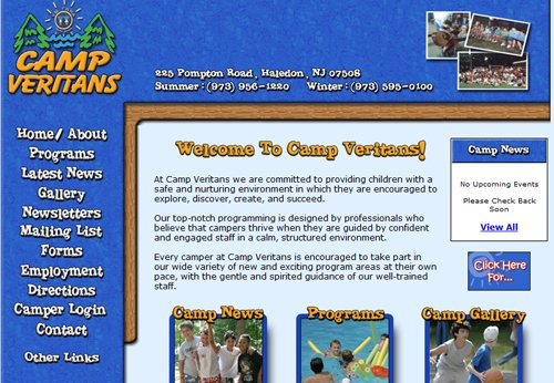 Camp Ground Website Design